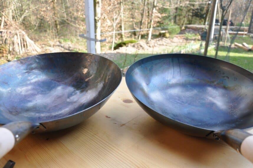 hand hammerd vs machine made wok profamilychef.com