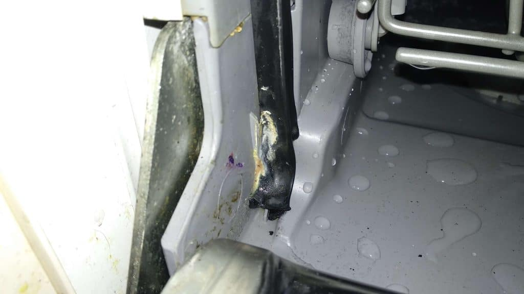 clogged holes spray arm dishwasher