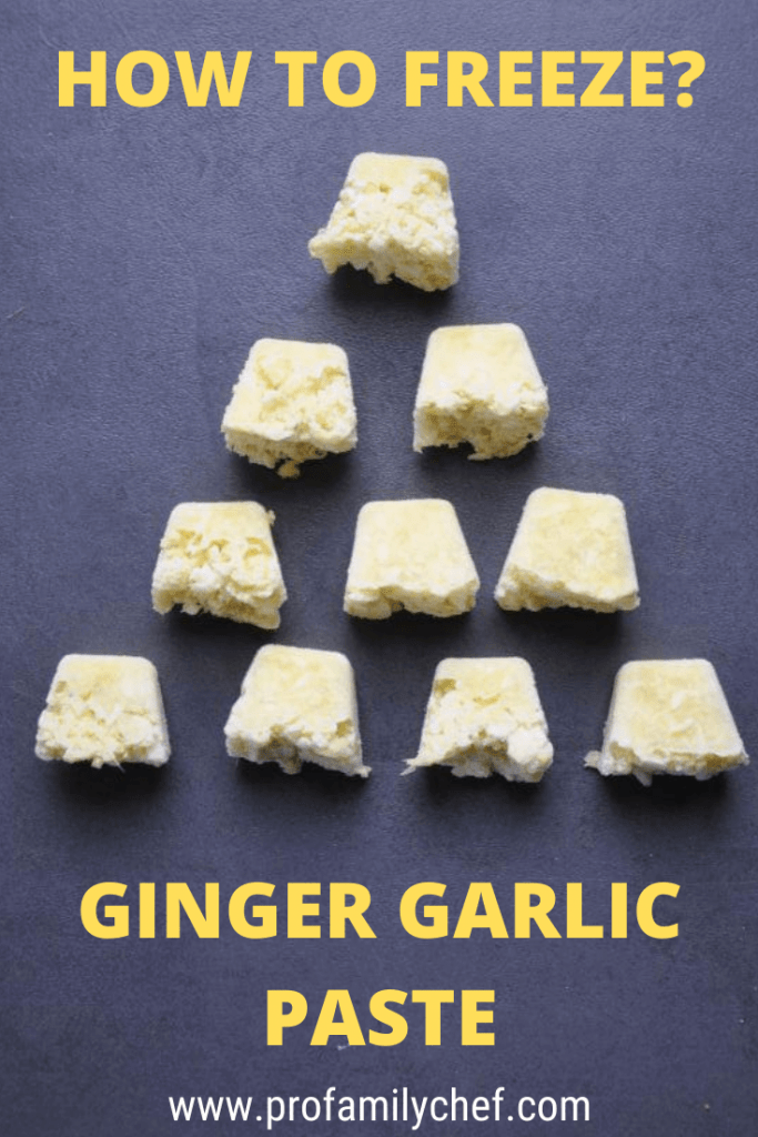 can you freeze ginger garlic paste