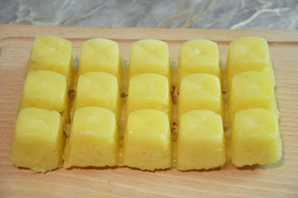 ginger and garlic paste frozen cubes