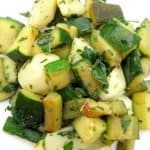 refreshing zucchini and potatoes, summer vegan recipeac