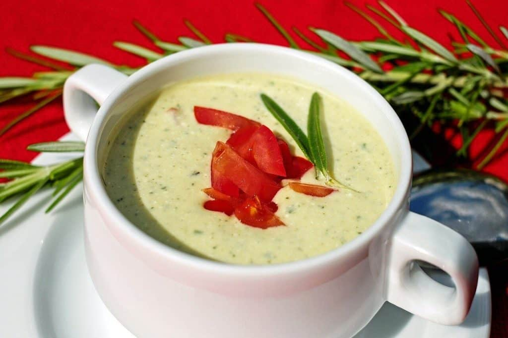 Over riped zucchini soup recipe