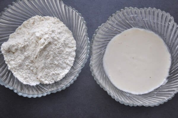 dissolved flour in water