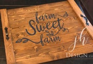 noodle board stove top cover saying farm sweet farm