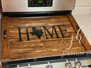 noodle board saying home texas state design