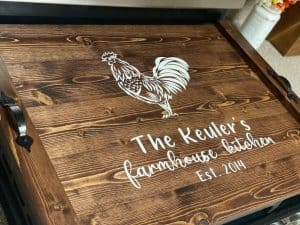 noodle board stove cover sayings rooster design