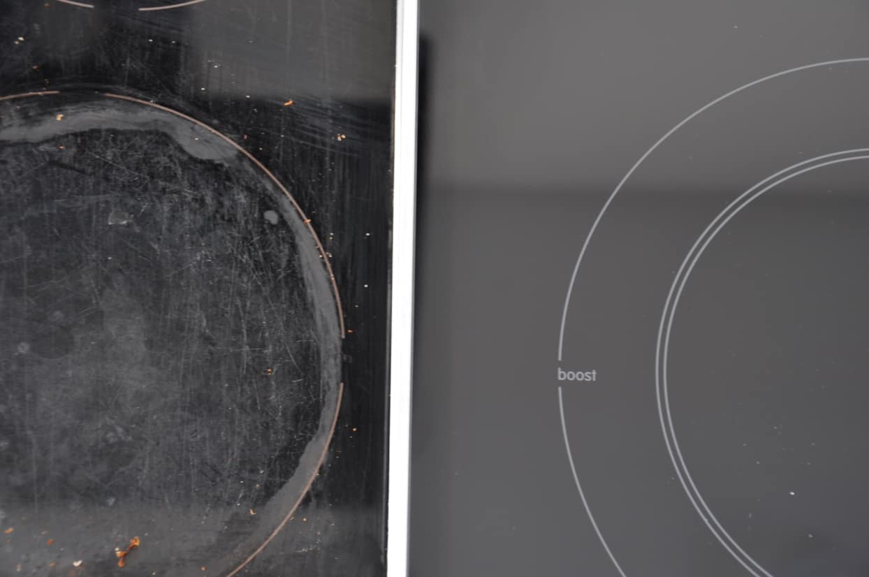 difference between smooth sufracee and scratched surface induction hob 1240