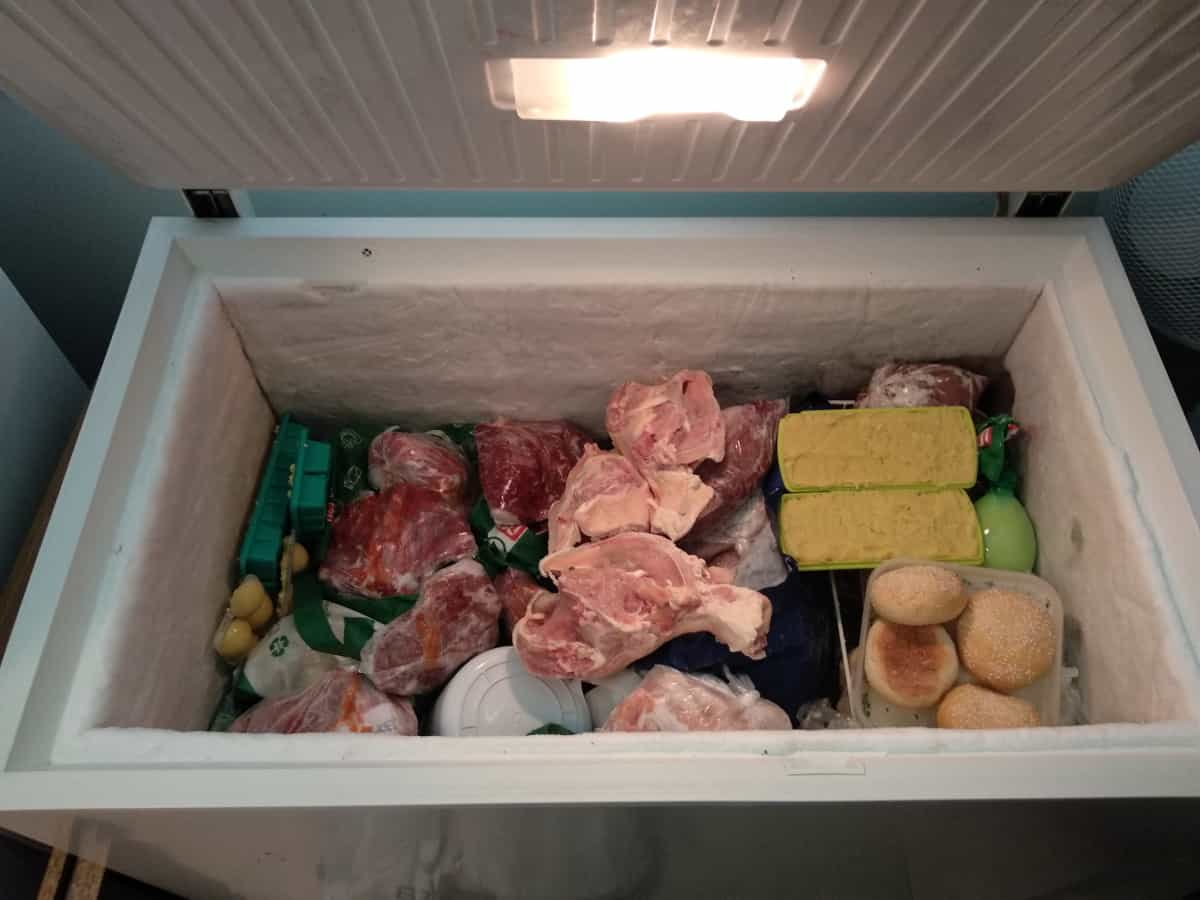 What size chest freezer for half a cow