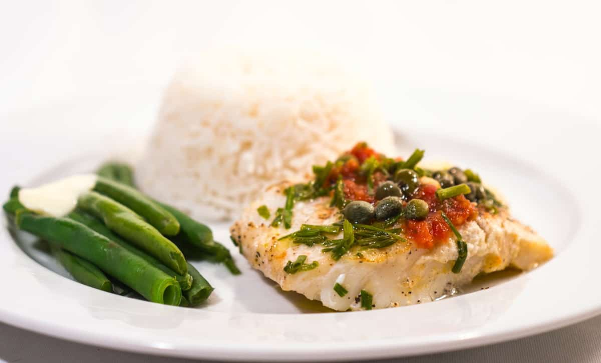 cooked cod fish
